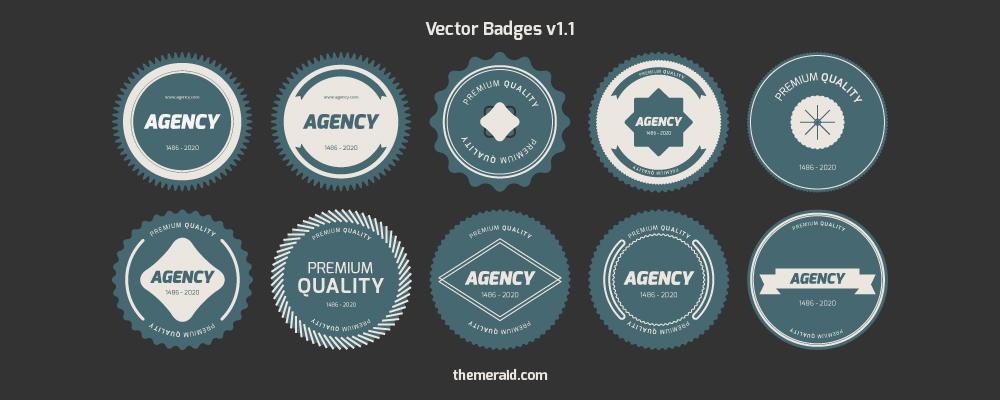 Flat free Vector Badges V1.1