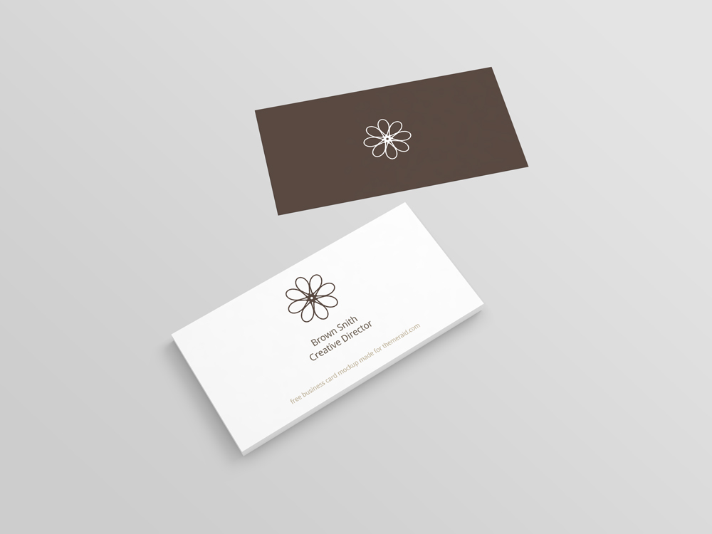 Perspective business card mockup psd reheart Images