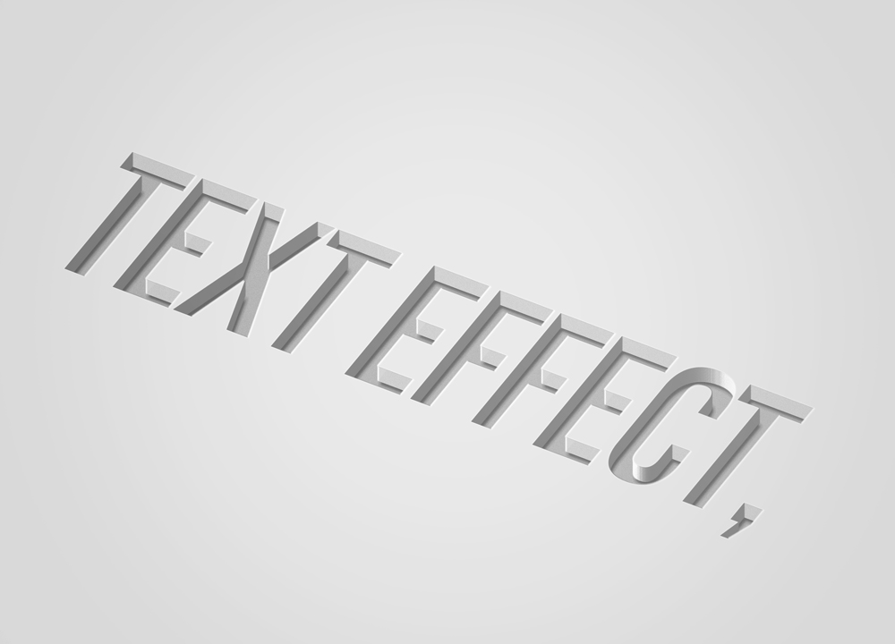 Free Photoshop Debossed Text Effect