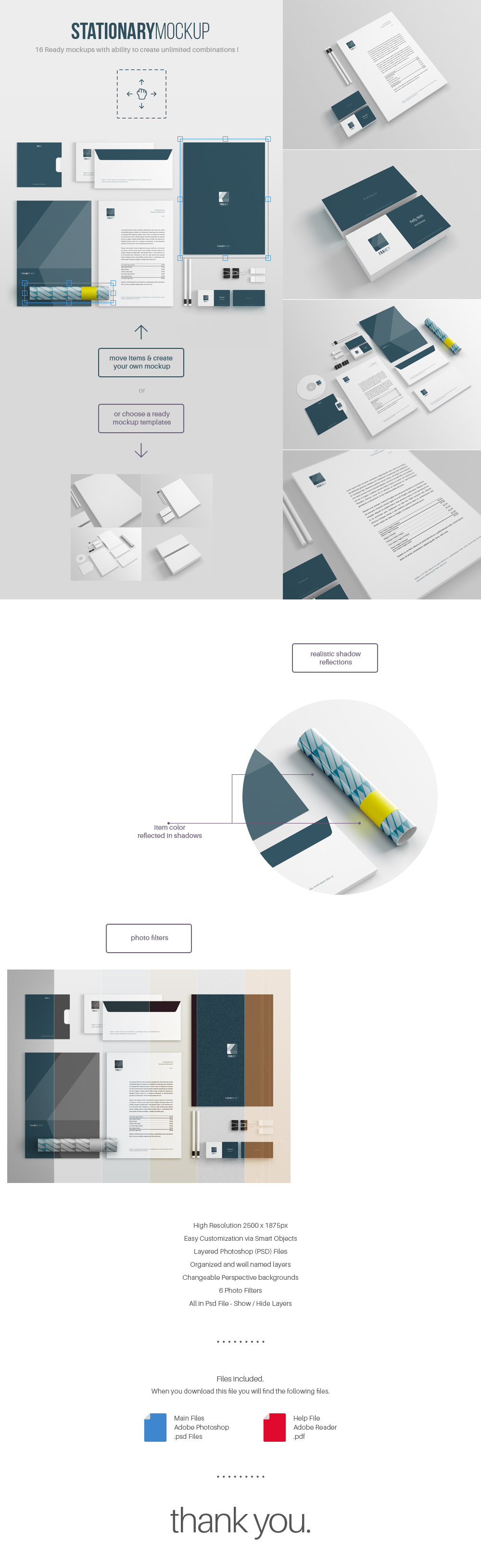 Free stationery Mockup Template