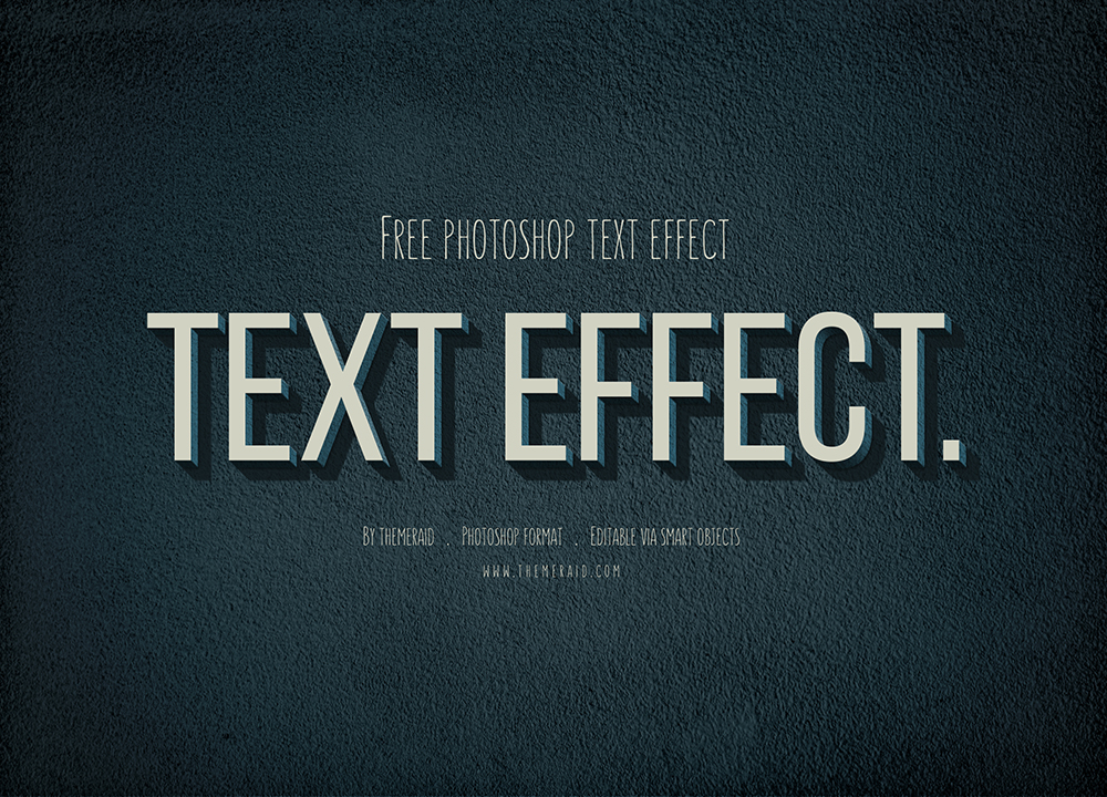 Vintage Retro Text Effect PSD