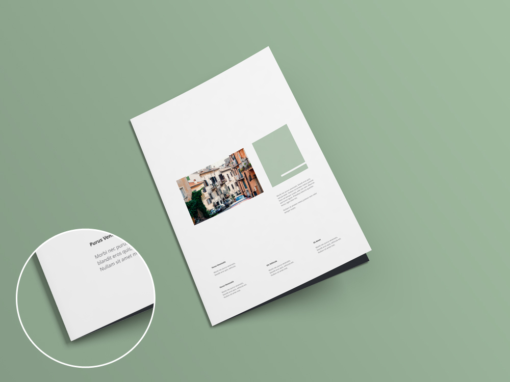 A4 bi fold brochure mock up v1 0 for Free brochure psd templates