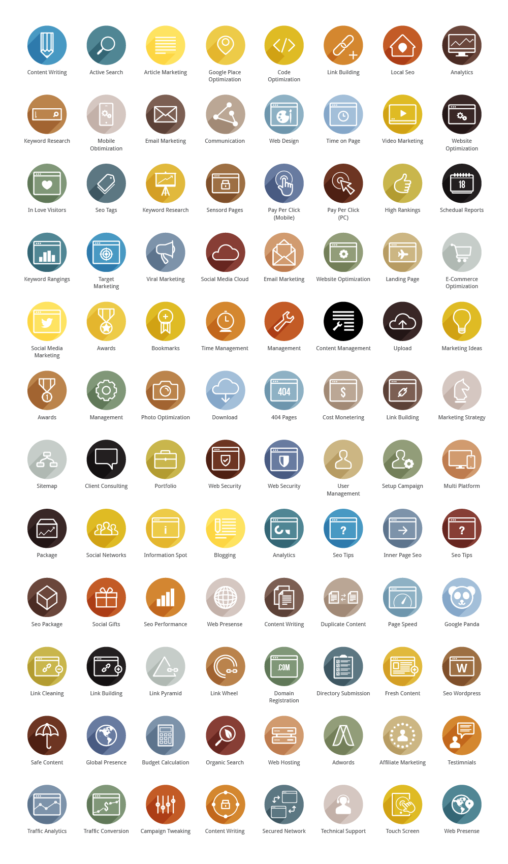 Seo Colored Icons