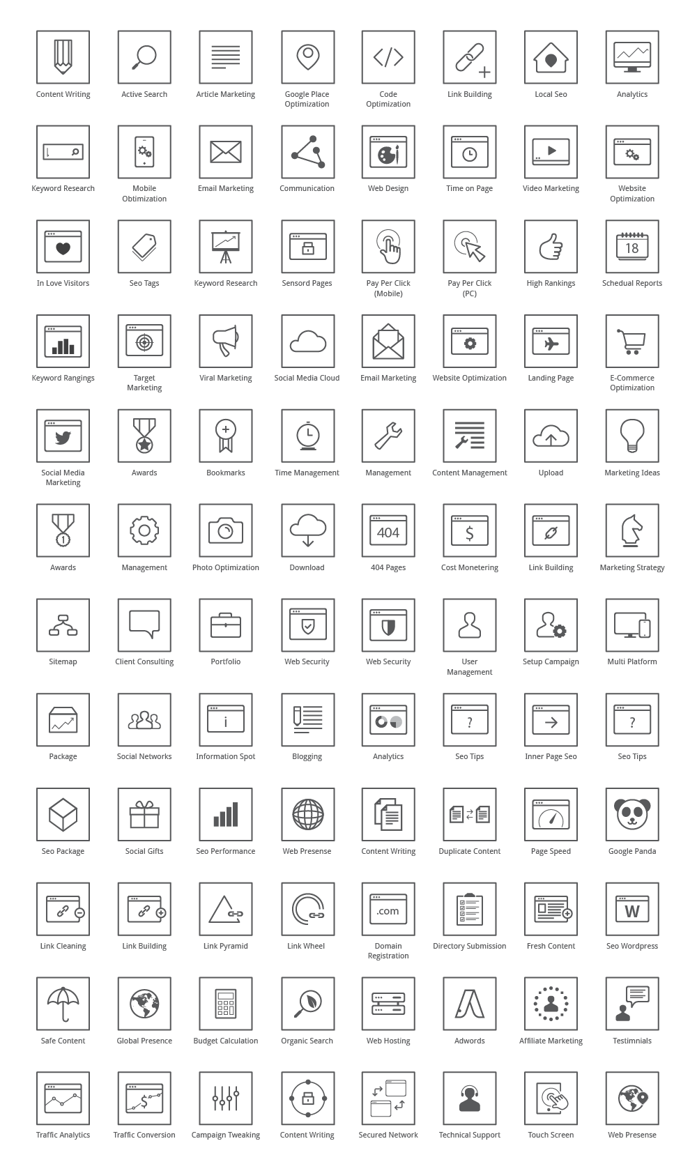 Vector Seo Icons