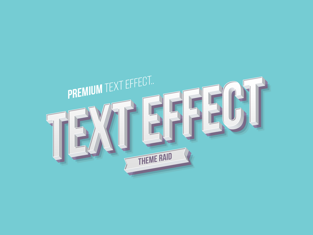 Isometric 3d Text Effect
