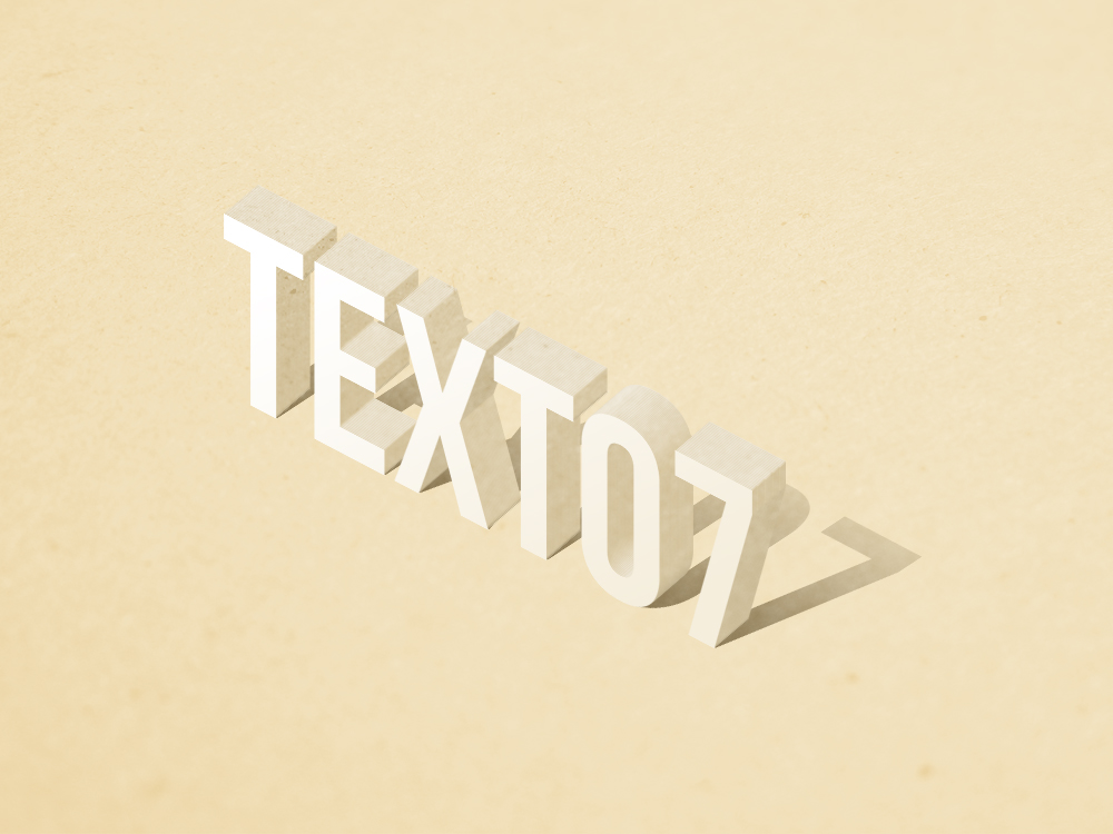 standing Text Effect psd