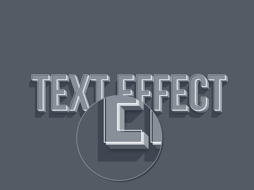 smart psd text effect