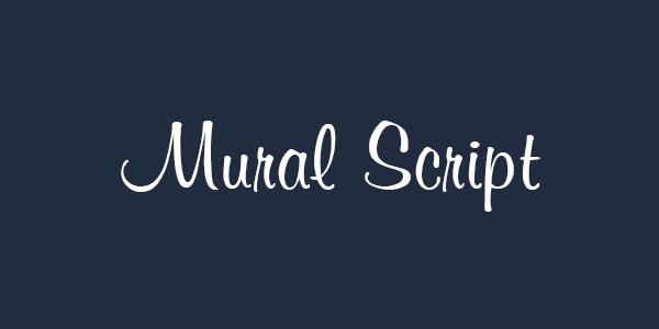 Mural Script free font