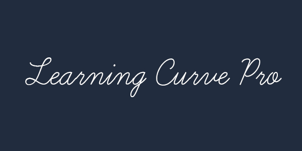Learning Curve Pro free font