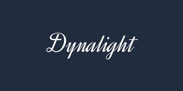 dynalight free font
