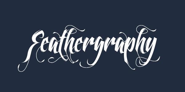 Feathergraphy free font