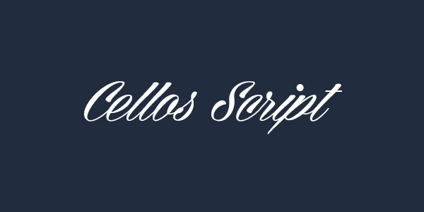 Cellos Script Free Font
