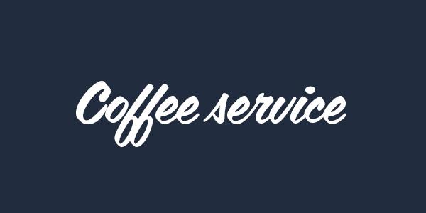 coffee service free font