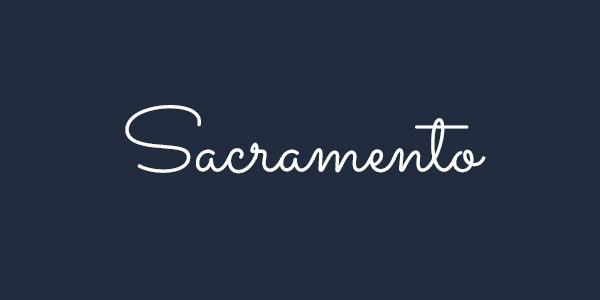 Sacramento free font