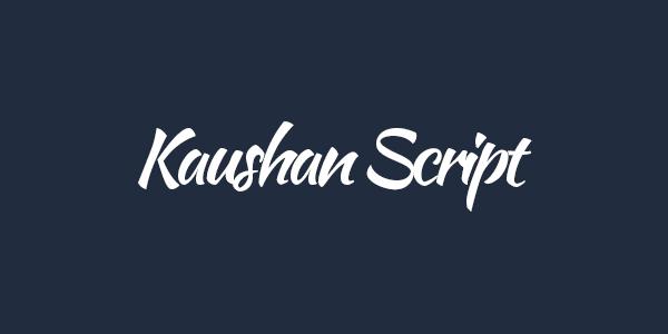 Kaushan Script free font