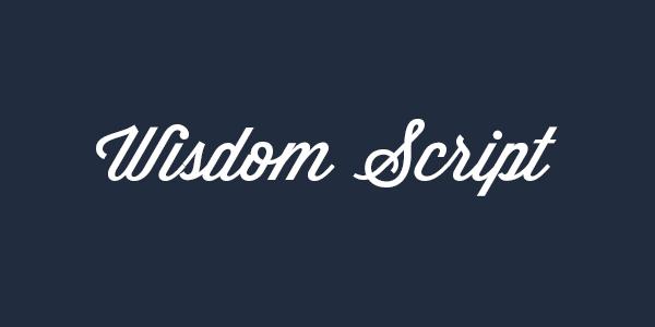 Wisdom Script free font
