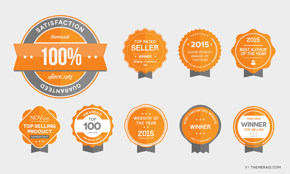 award badges psd vector