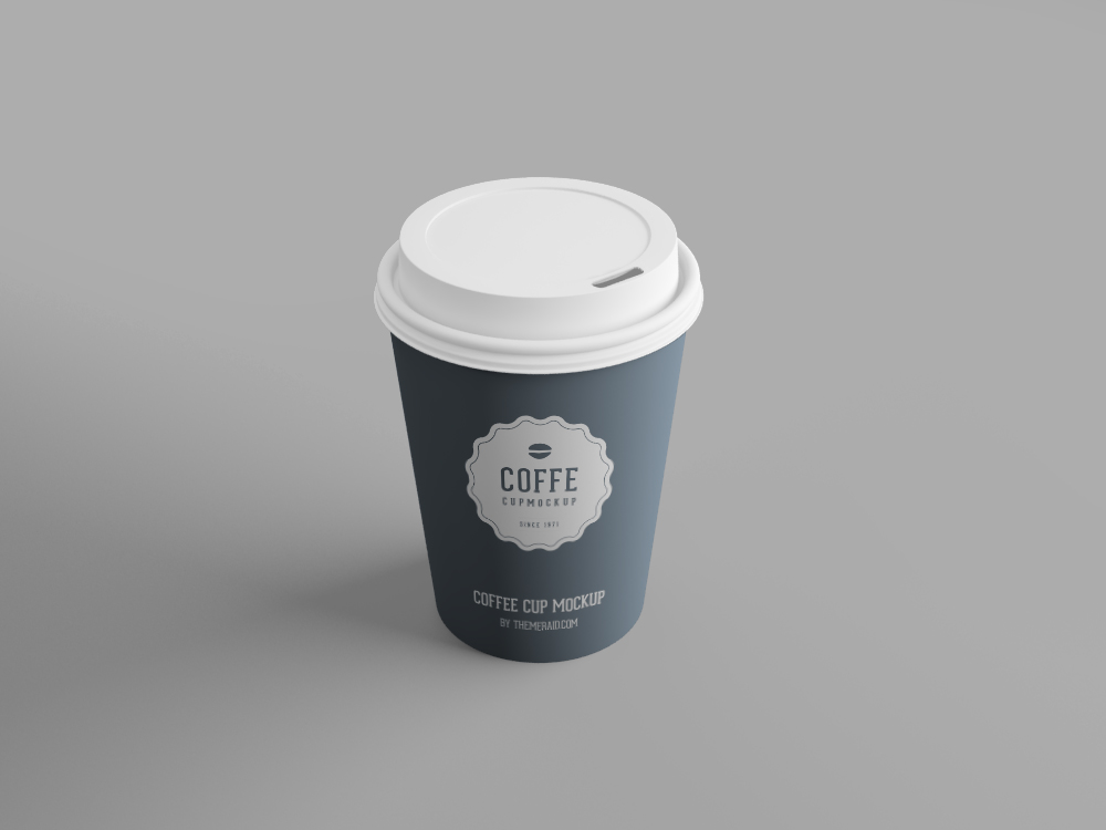 Psd smart object coffee cup mockup that you can download for free.