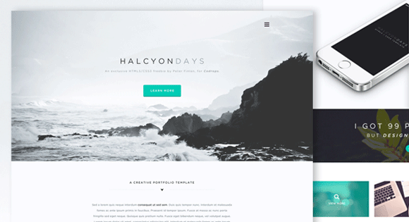 HalcyonDays Free Website Template