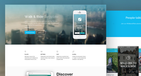 WalkRide Free WebsiteTemplate