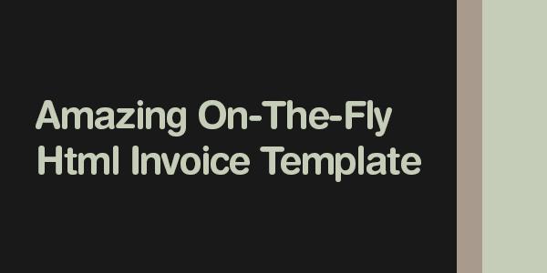 html invoice template