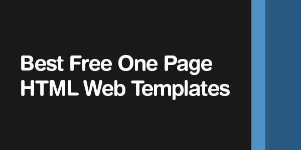 one page website templates free