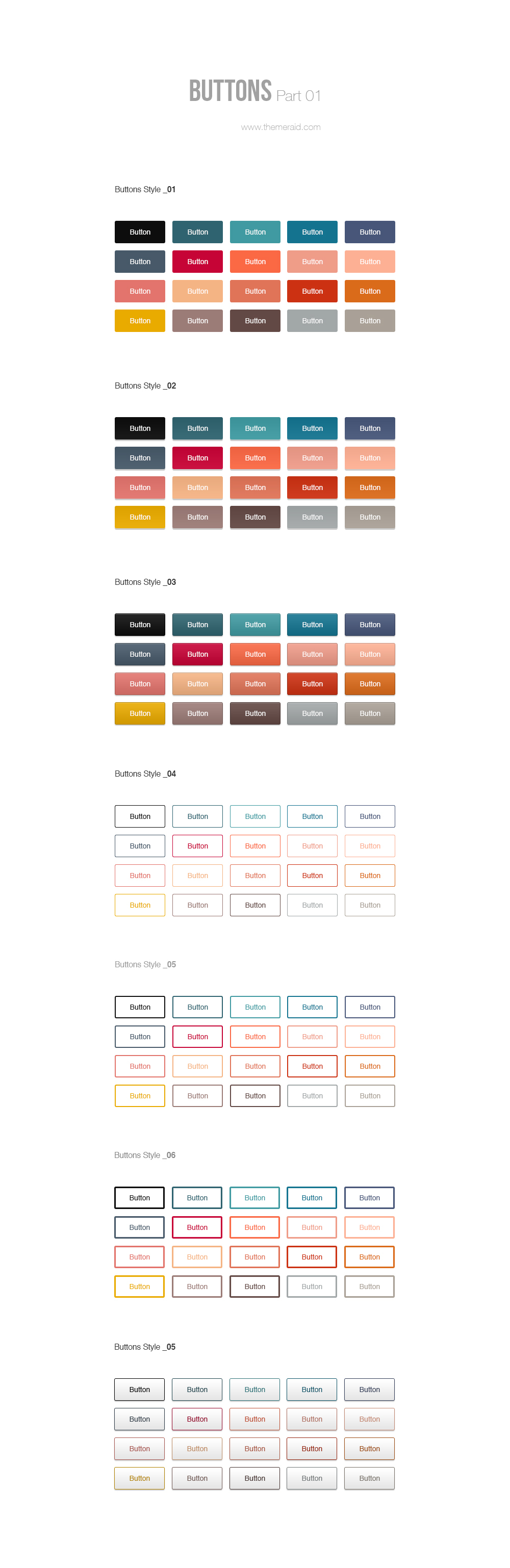 Colored Psd Buttons