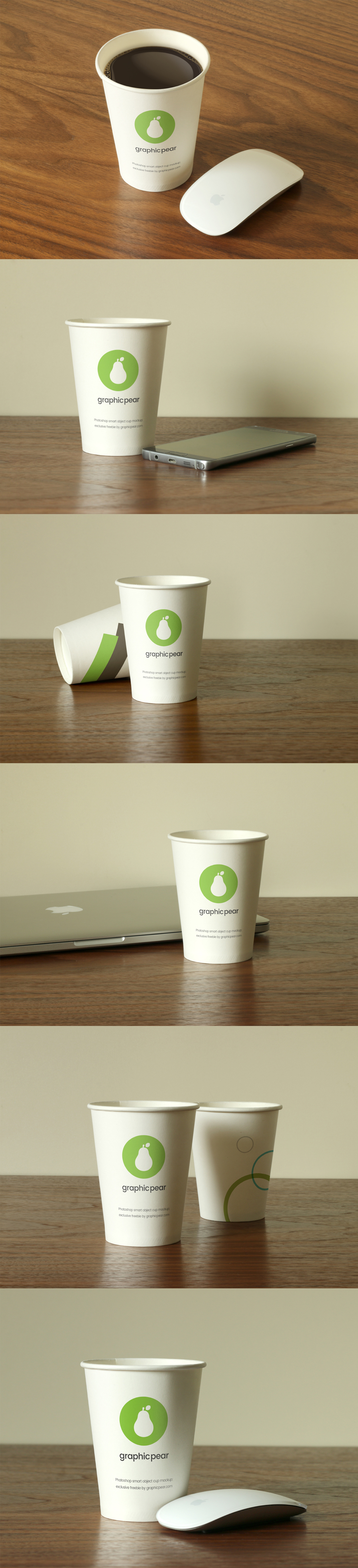 Disposable Cups Mockup