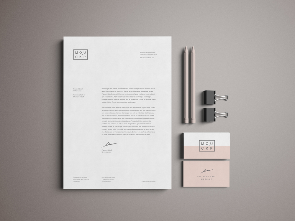 Advanced Stationery Mockup