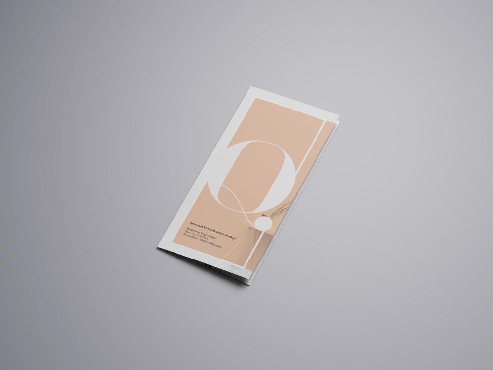 simple trifold brochure mockup