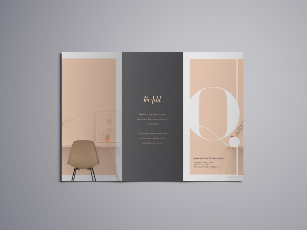 advanced a4 trifold brochure mockup
