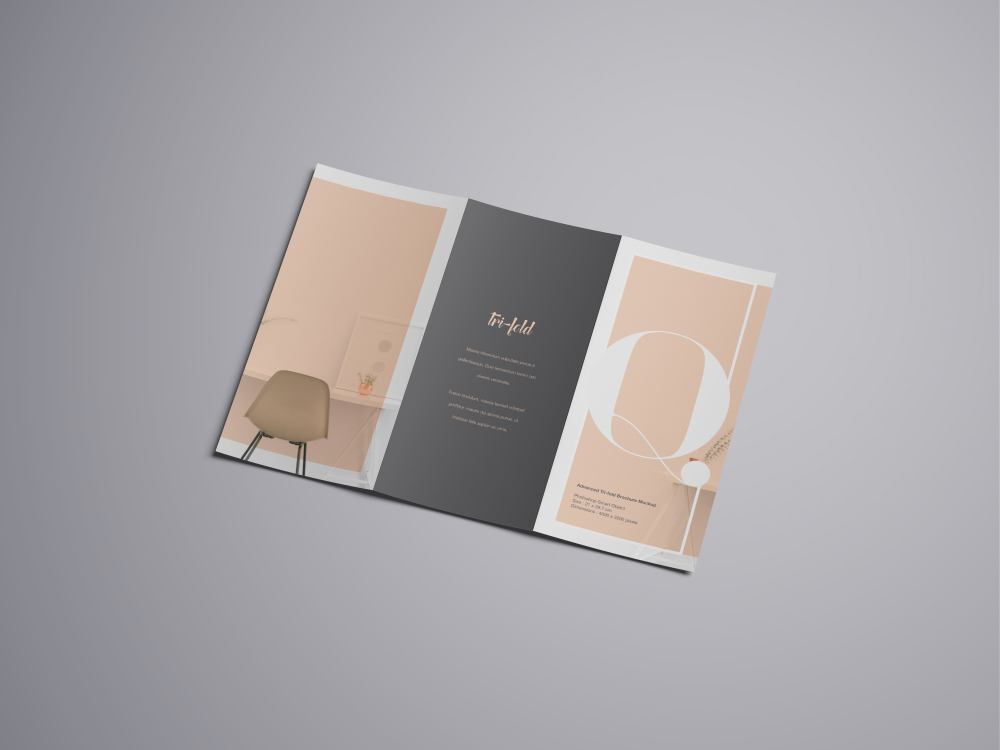advanced a4 trifold brochure mockup