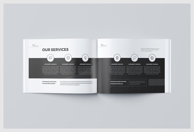 Business Brochure Landscape Template