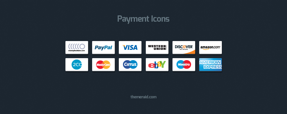 Payment Icons (Psd & Vector)