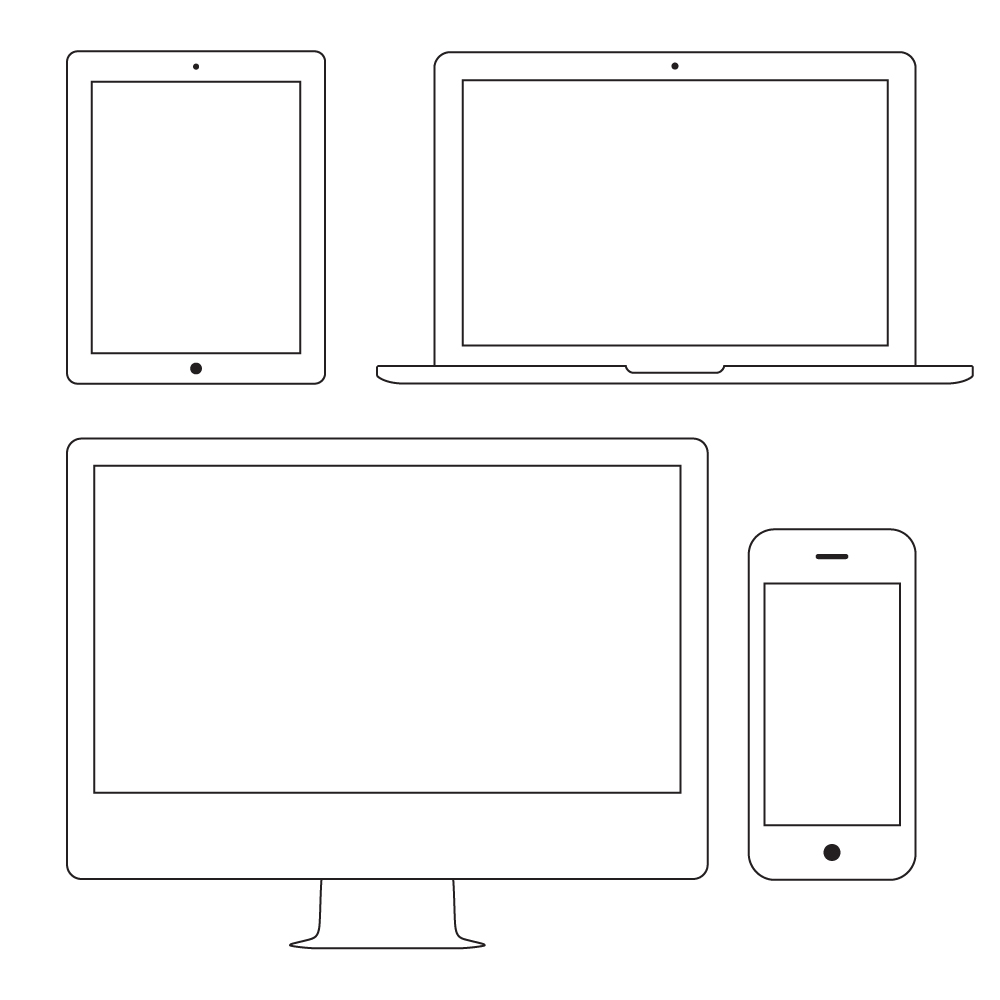 Wire-Frame-Apple-Devices-Vector One Page Email Newsletter Templates Free on for mac, free mac, free single,