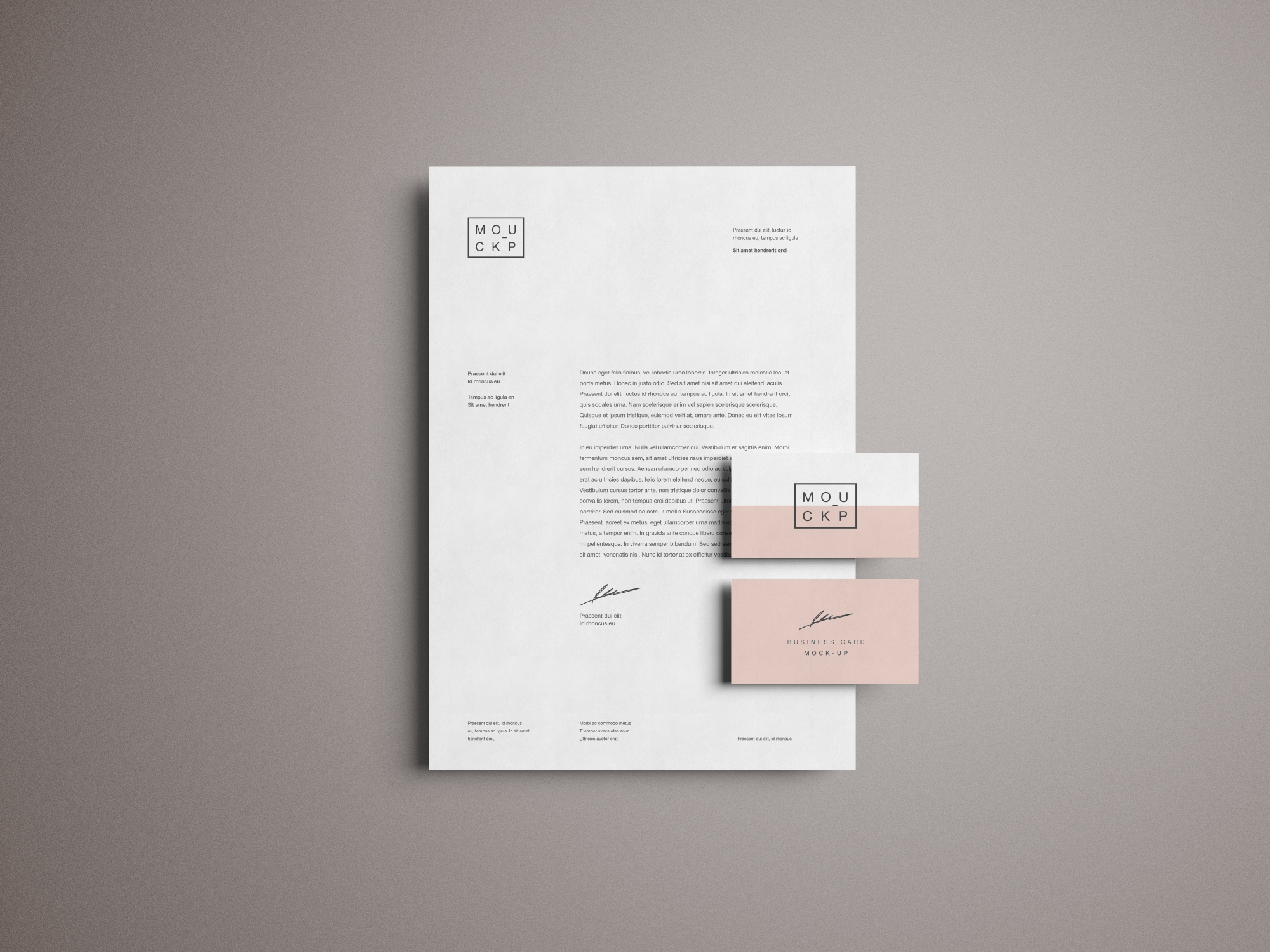 Advanced Branding  U0026 Stationery Psd Mockup