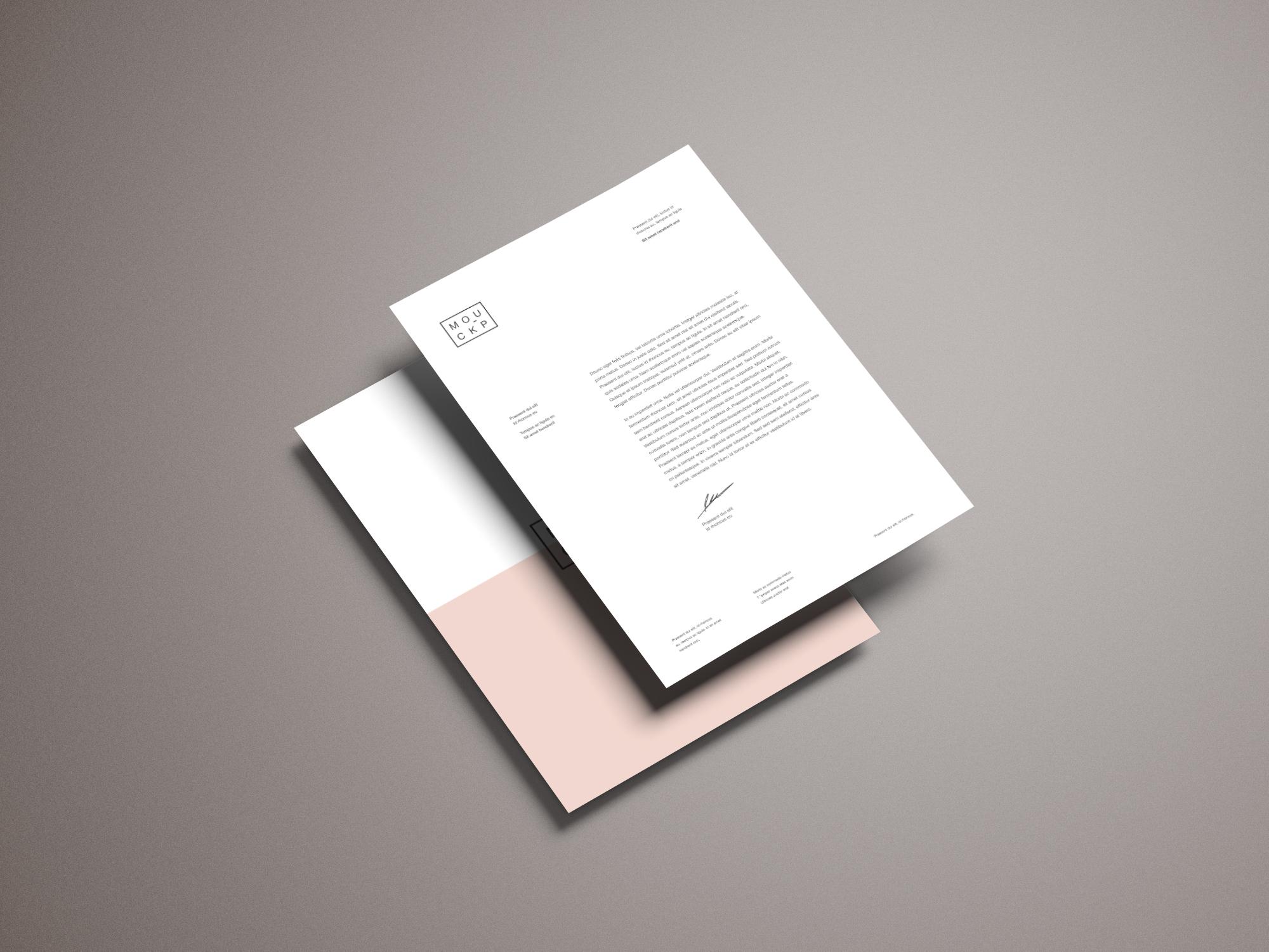 Stationery - Letterhead Mockup