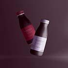 flying plastic bottle mockup